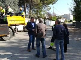 Treballs de reparació de camins de ferm asfàltic de l'Horta a les partides de Butsènit i Rufea