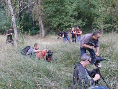 Una vintena de persones al Curs de Fotografia de Natura a la Mitjana