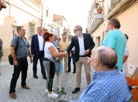 Inauguració de les obres de reforma del carrer Sant Francesc Xavier de Magraners