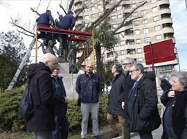 L'Ajuntament de Lleida restaura l'estàtua de Gaspar de Portolà