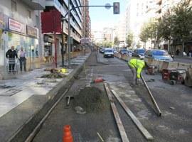 Les obres de pavimentació de l'avinguda Catalunya es completaran aquesta nit