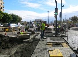 Recta final dels treballs per a la construcció del carril bici que connectarà l'eix entre la Rambla d'Aragó i el Pont de la Universitat