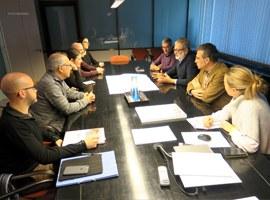 Reunió de treball amb els arquitectes de la nova plaça de la Panera