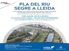 L'Ajuntament de Lleida organitza una sessió de treball participativa sobre el Pla del Riu Segre oberta a tota la ciutadania